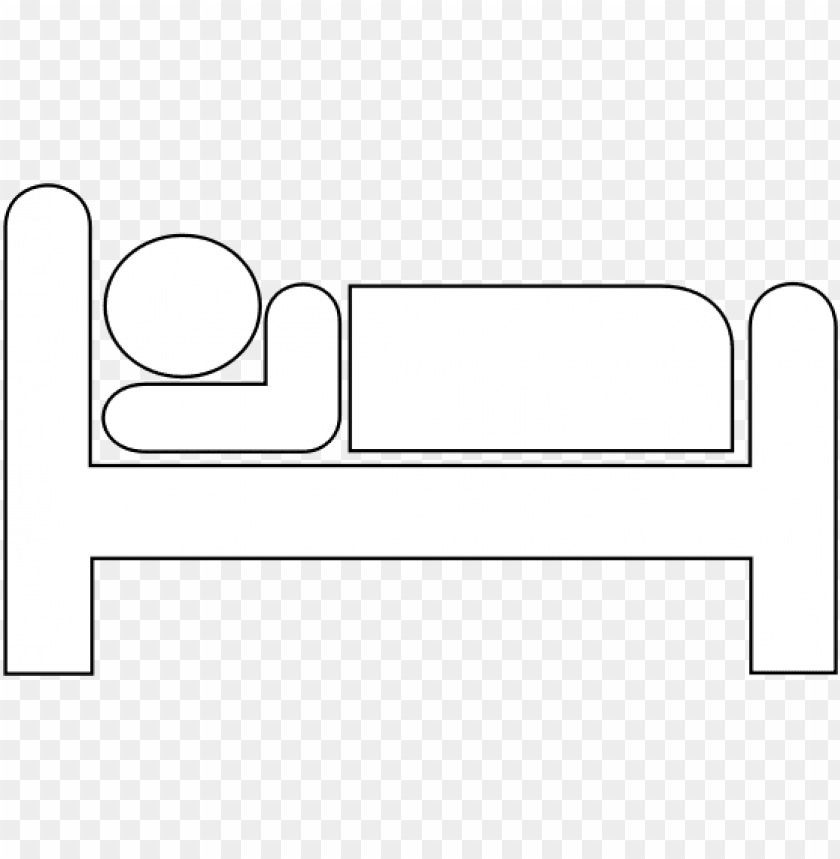 free PNG bed outline white transparent clipart computer icons - hospital bed line art PNG image with transparent background PNG images transparent