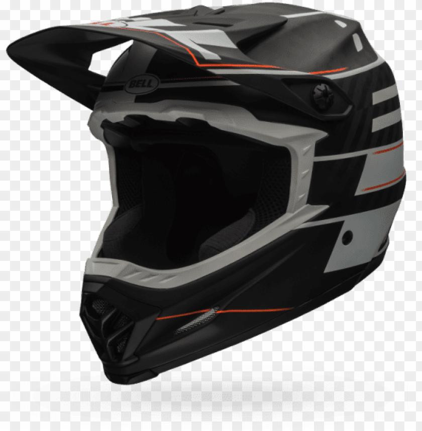 free PNG bell full-9 white helmet - bell full 9 full face helmet matt white/ black blocked PNG image with transparent background PNG images transparent