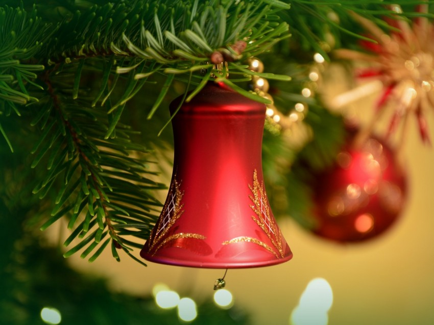 free PNG bell, new year, christmas, christmas decoration, christmas tree background PNG images transparent