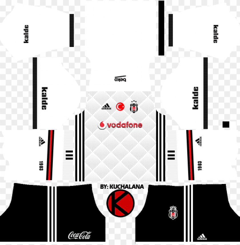 besiktas j - k - 2017/18 - dream league soccer kits - kit dream league soccer 2018 PNG image with transparent background@toppng.com