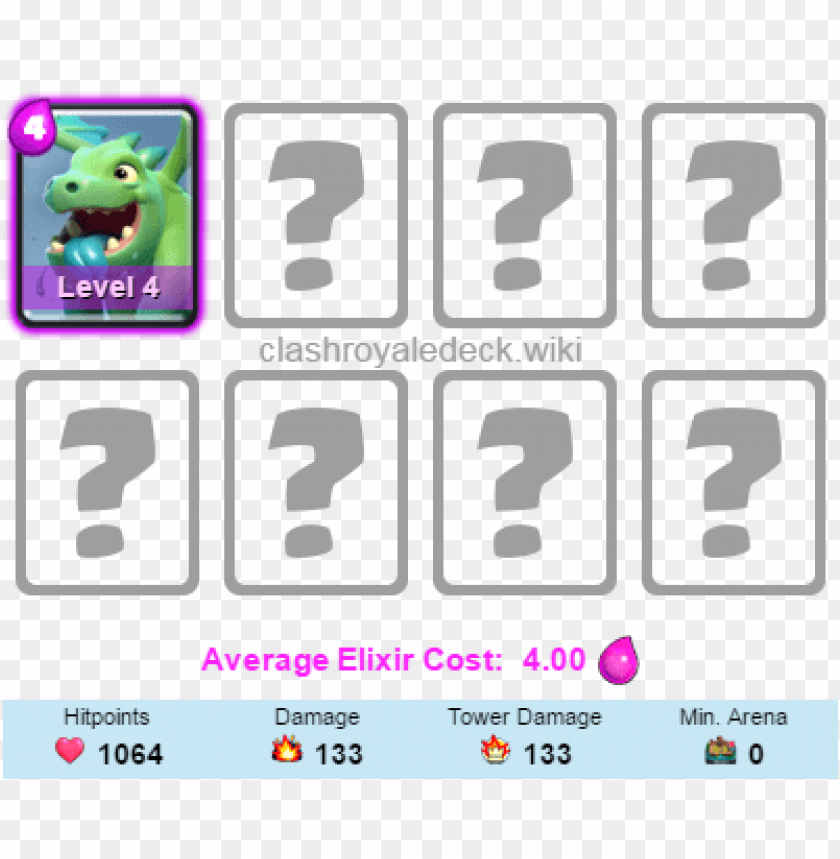 free PNG best clash royale decks with baby dragon, baby dragon - clash royale best deck inferno dragon arena 7 PNG image with transparent background PNG images transparent