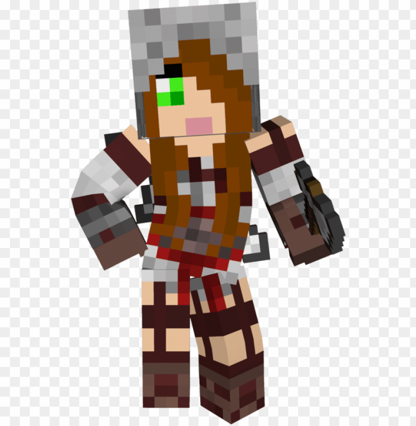 free PNG best free cute girl minecraft wallpapers png brown - minecraft girl skin assassi PNG image with transparent background PNG images transparent