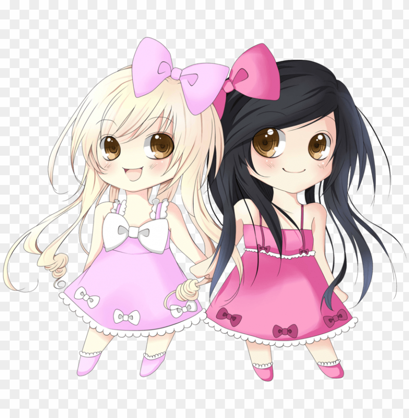 Bestfriend Drawing Friendship Quote Transparent Clipart Two Anime Girls Best Friends Png Image With Transparent Background Toppng