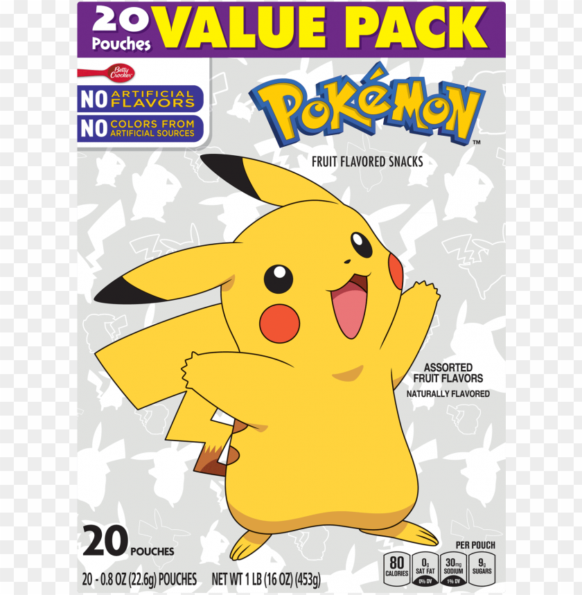 free PNG betty crocker pokemon fruit snacks PNG image with transparent background PNG images transparent