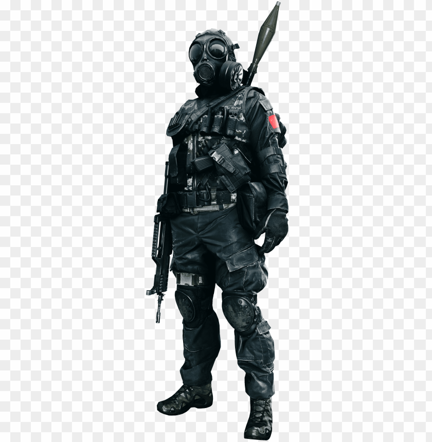 Bf4 Render China Eng Gas Mask Soldier Png Image With Transparent