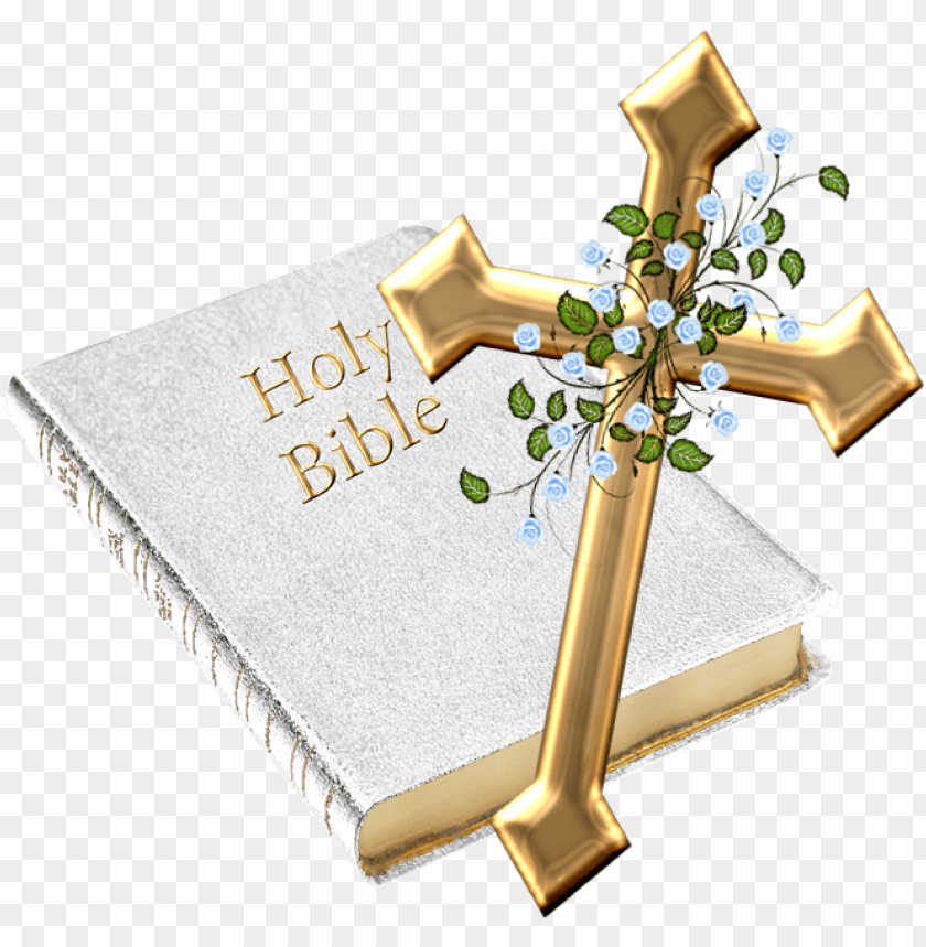 free PNG bible genesis christian cross clip art - holy bible and cross PNG image with transparent background PNG images transparent