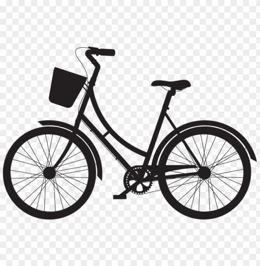 free PNG bicycle with basket silhouette png png - Free PNG Images PNG images transparent