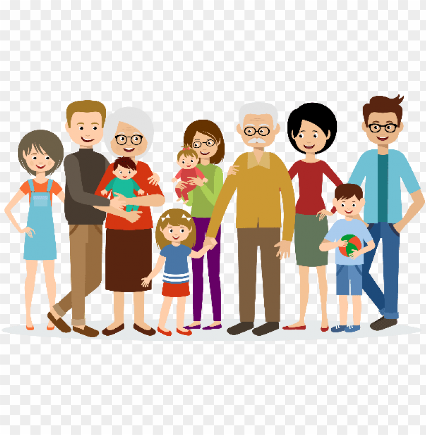 Big Family Animated Png Image With Transparent Background Toppng