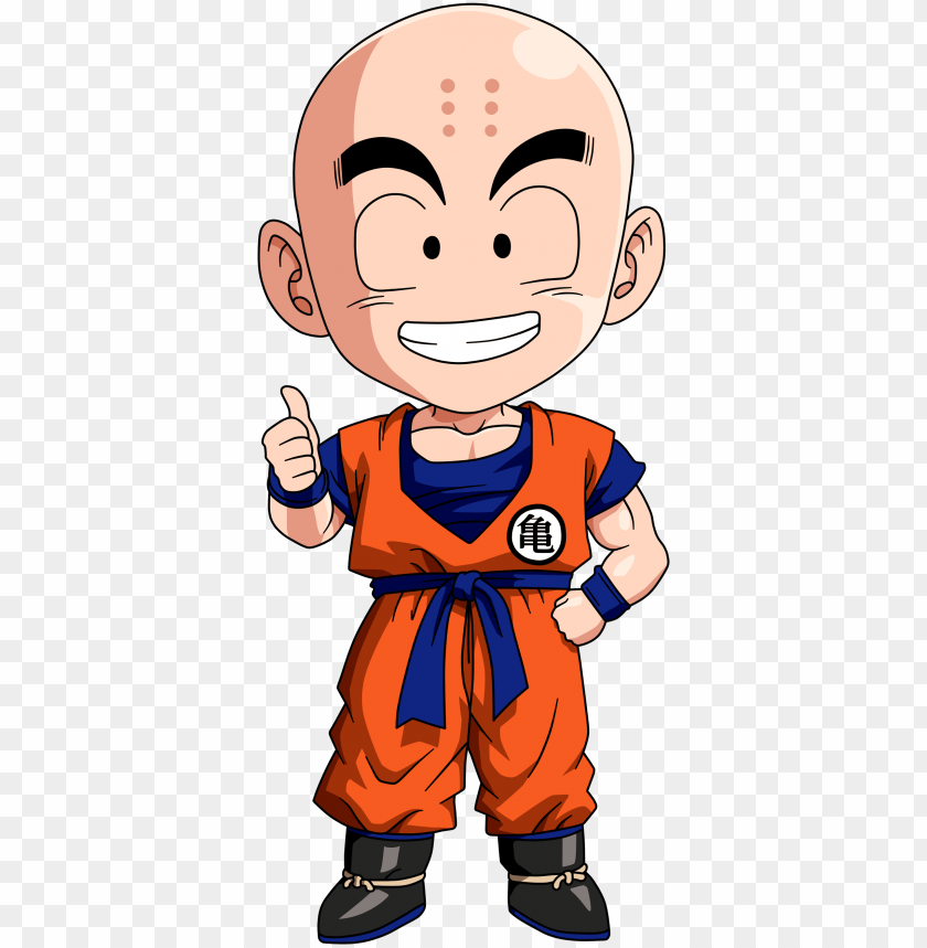 free PNG big head krillin - dragon ball chibi krilli PNG image with transparent background PNG images transparent