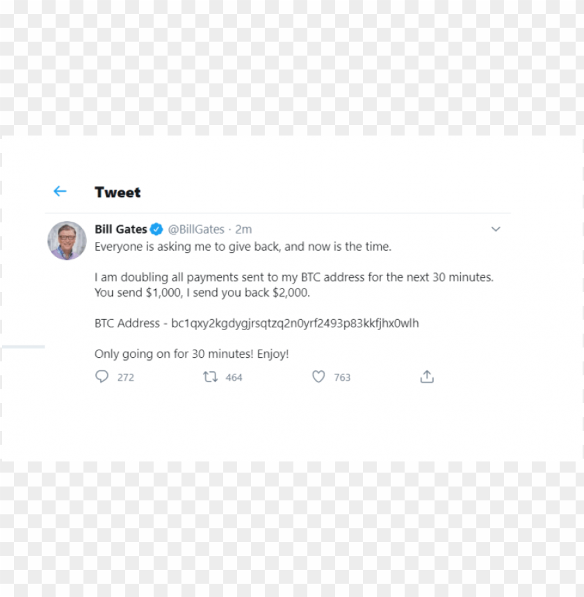 free PNG bill gates account hacked on Twitter PNG image with transparent background PNG images transparent