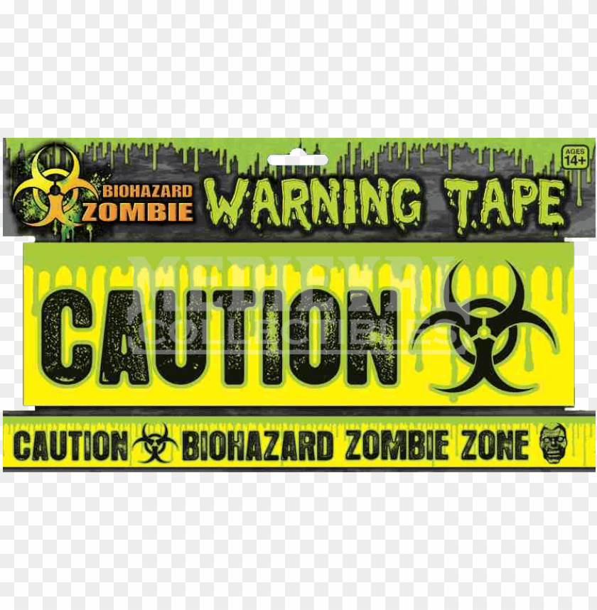 free PNG biohazard zombie warning tape - forum novelties 68612 biohazard zombie warning tape PNG image with transparent background PNG images transparent