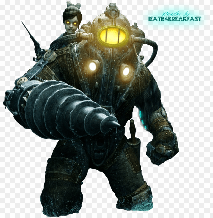 free PNG bioshock png - bioshock 2 subject delta and little sister PNG image with transparent background PNG images transparent