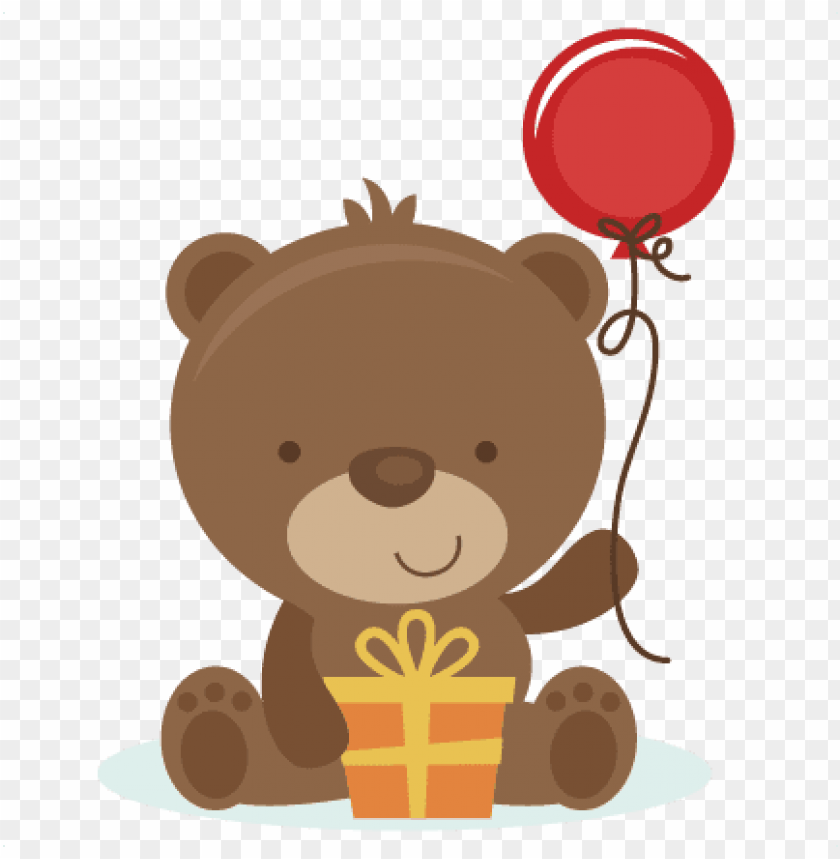 free PNG birthday bear svg cut file birthday svg files birthday - birthday bear clip art PNG image with transparent background PNG images transparent