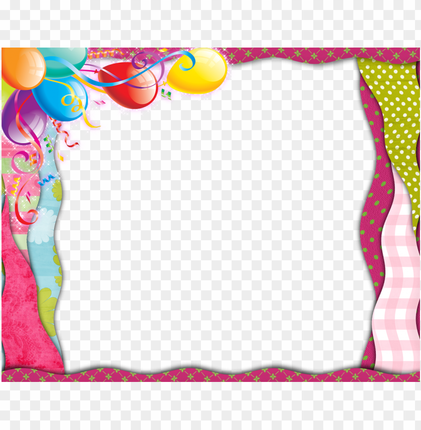 free PNG birthday border png clipart borders and frames birthday - happy birthday girl frame PNG image with transparent background PNG images transparent