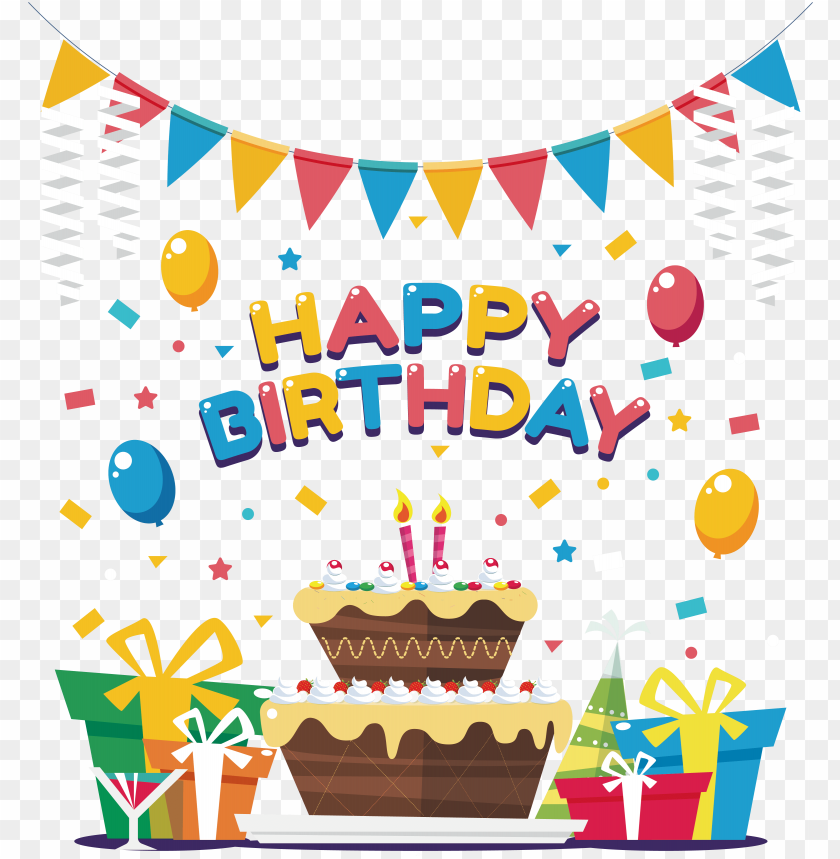 Birthday Cake Clip Art Cake Clip Art Birthday Party Background Png Image With Transparent Background Toppng
