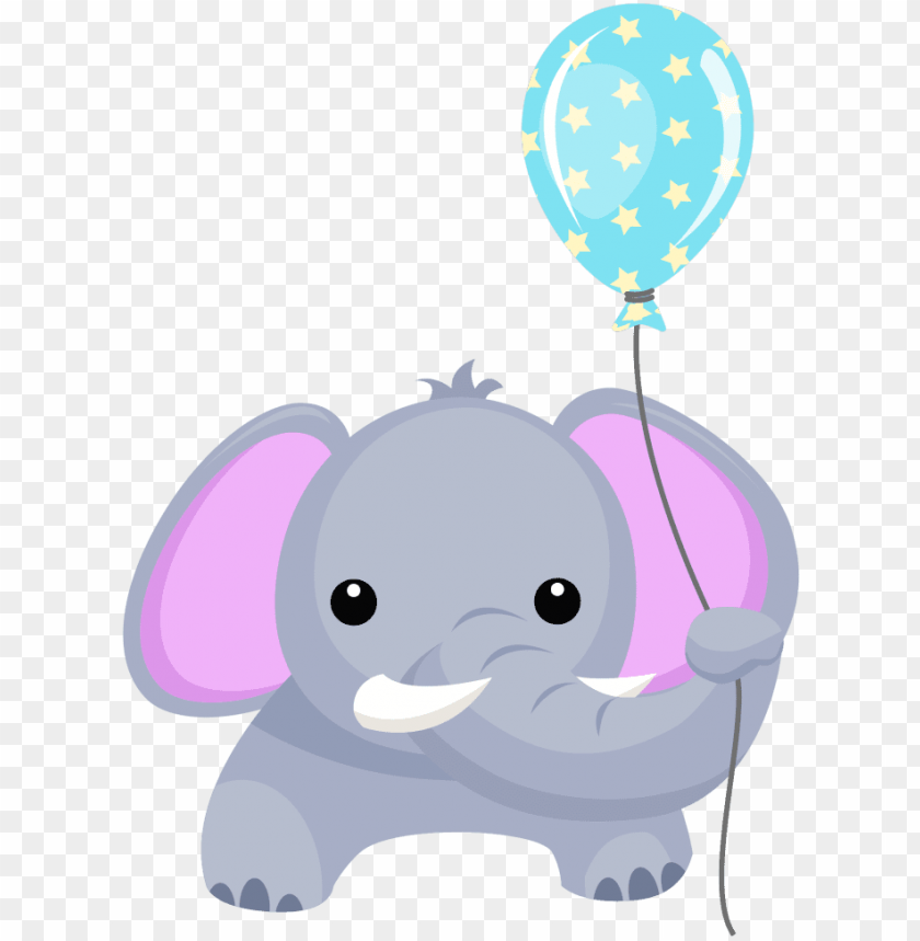 free PNG birthday elephant with balloon clipart - baby elephant with balloon PNG image with transparent background PNG images transparent