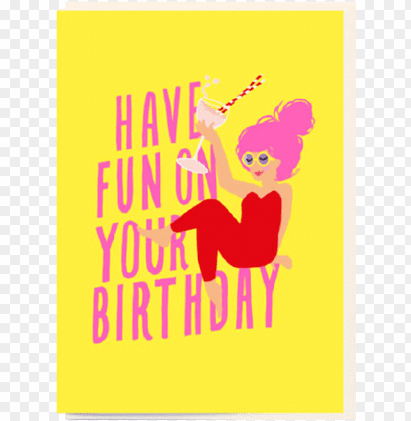 free PNG birthday funky quirky unusual modern cool card cards - illustratio PNG image with transparent background PNG images transparent