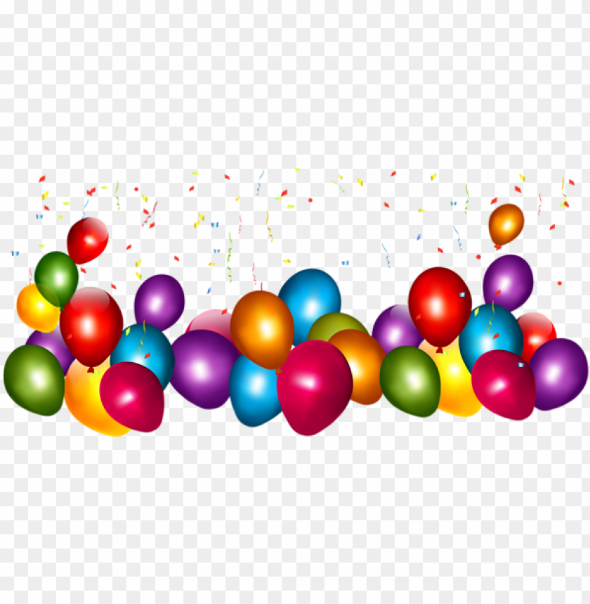 free PNG birthday greetings, happy birthday, birthday clipart, - balloons and confetti transparent PNG image with transparent background PNG images transparent