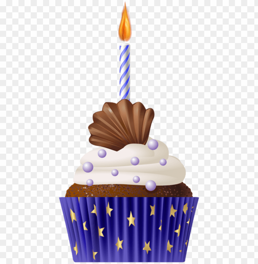 free PNG Download birthday muffin blue with candle png png images background PNG images transparent