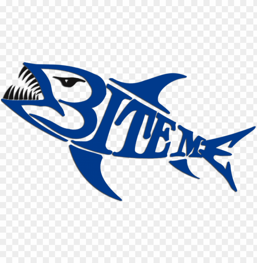 Download Bite Me Logo Recreational Fishi Png Image With Transparent Background Toppng