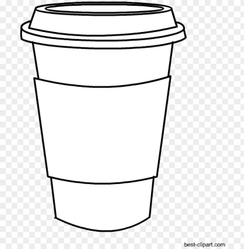 free PNG black and white coffee mug clip art free - coffee cup png white PNG image with transparent background PNG images transparent