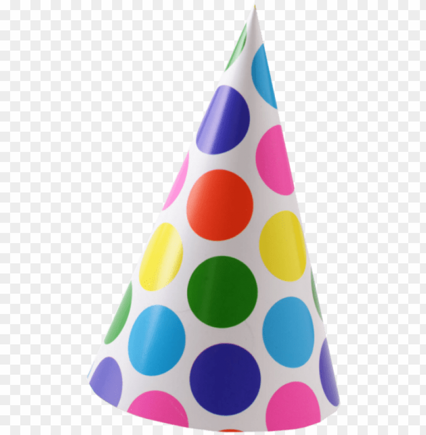 free PNG black and white download free png image and clipart - polka dot birthday hat PNG image with transparent background PNG images transparent