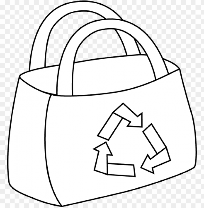 free PNG black and white eco friendly shopping bag clip art - shopping ba PNG image with transparent background PNG images transparent