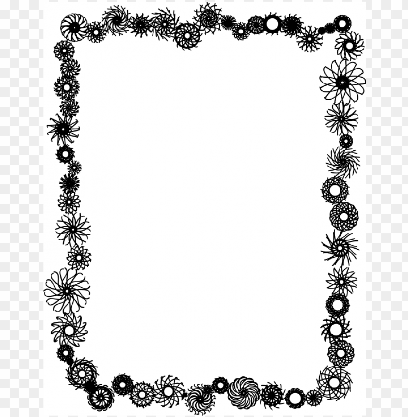 free PNG black and white flower border clipart clipart panda - flower frame border black and white PNG image with transparent background PNG images transparent