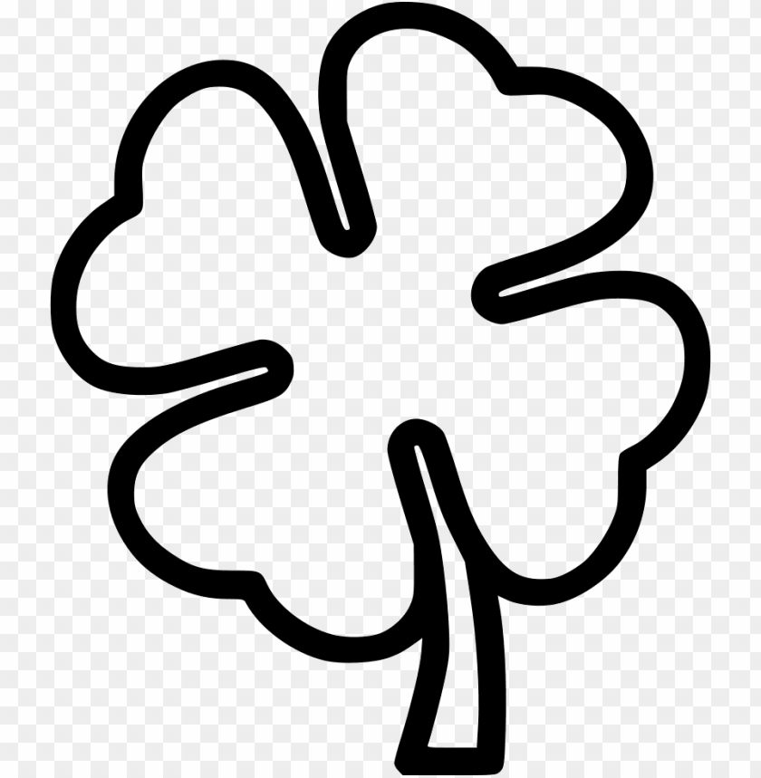 free PNG black and white four leaf clover black and white- clover icon png - Free PNG Images PNG images transparent
