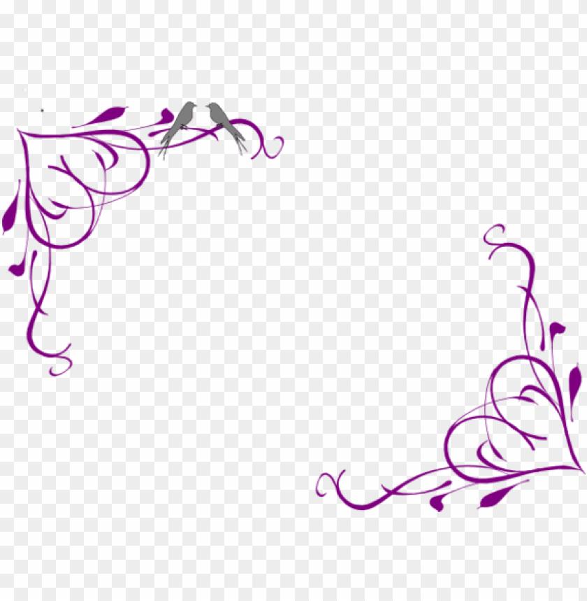 Black And White Library Purple Border Design To Use Purple