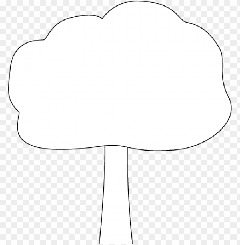 free PNG black and white oak tree - tree clipart black and white png outline PNG image with transparent background PNG images transparent