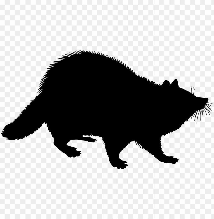 free PNG black and white stock silhouette clip art at getdrawings - raccoon silhouette clip art PNG image with transparent background PNG images transparent
