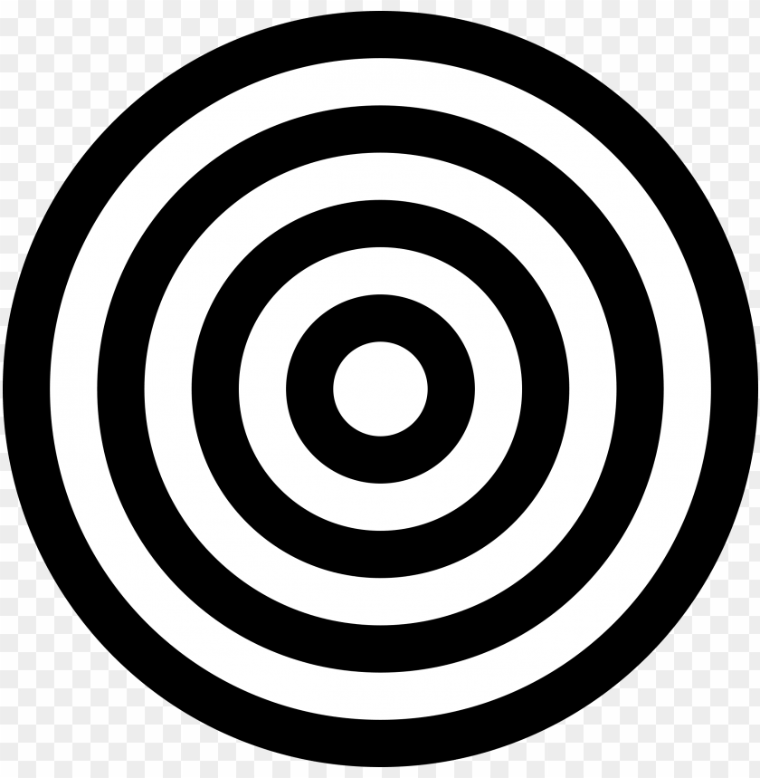Black And White Target Png Image With Transparent Background Toppng