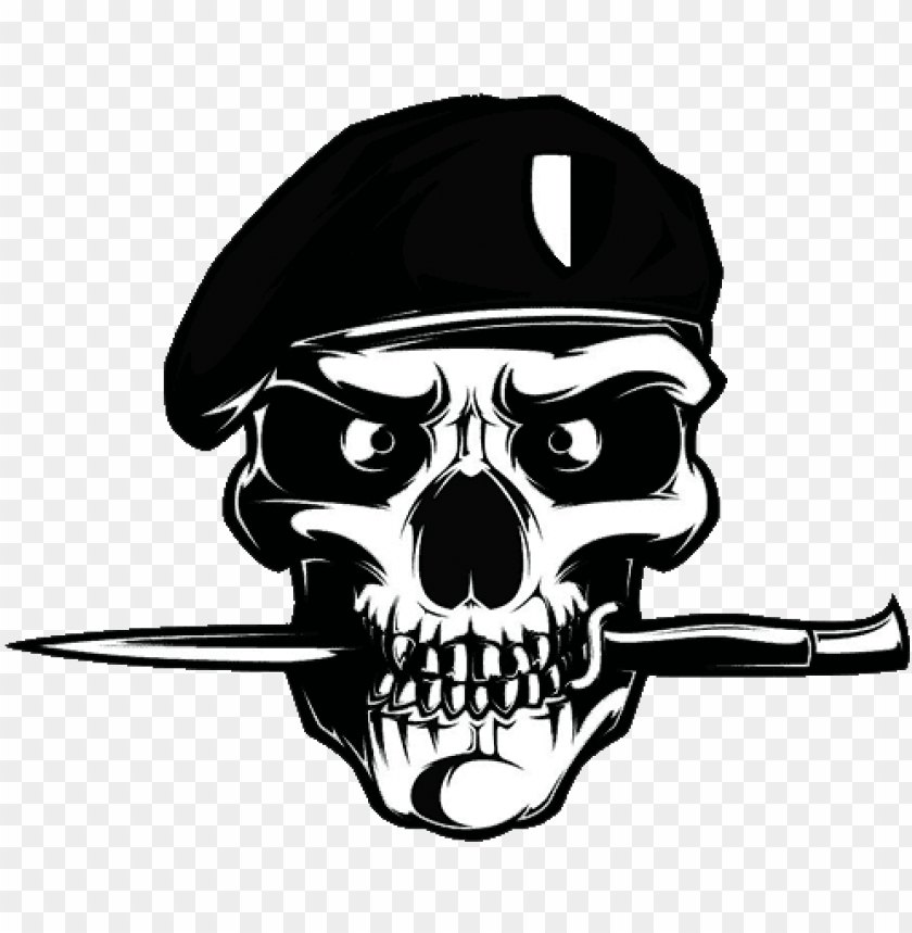 black beret korps skull army logo png image with transparent background toppng black beret korps skull army logo png