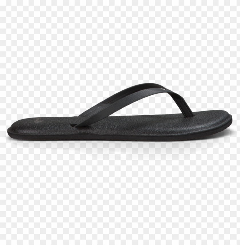 free PNG black - black - black - black - sanuk women's yoga bliss flip flop - black - 8 PNG image with transparent background PNG images transparent