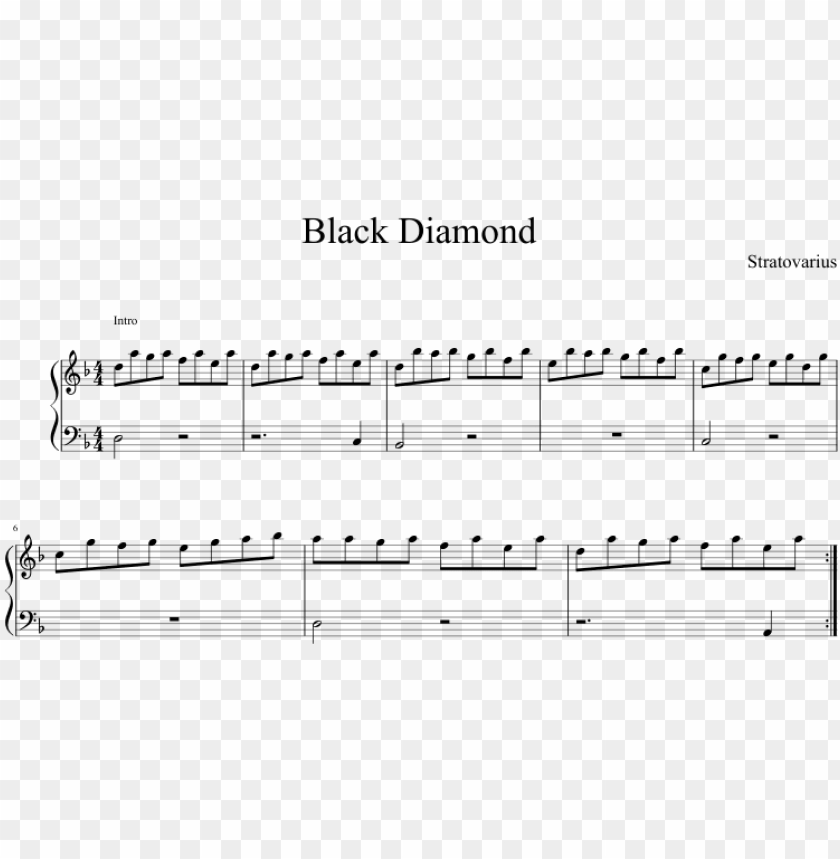free PNG black diamond sheet music composed by stratovarius - black diamond stratovarius partitura piano PNG image with transparent background PNG images transparent
