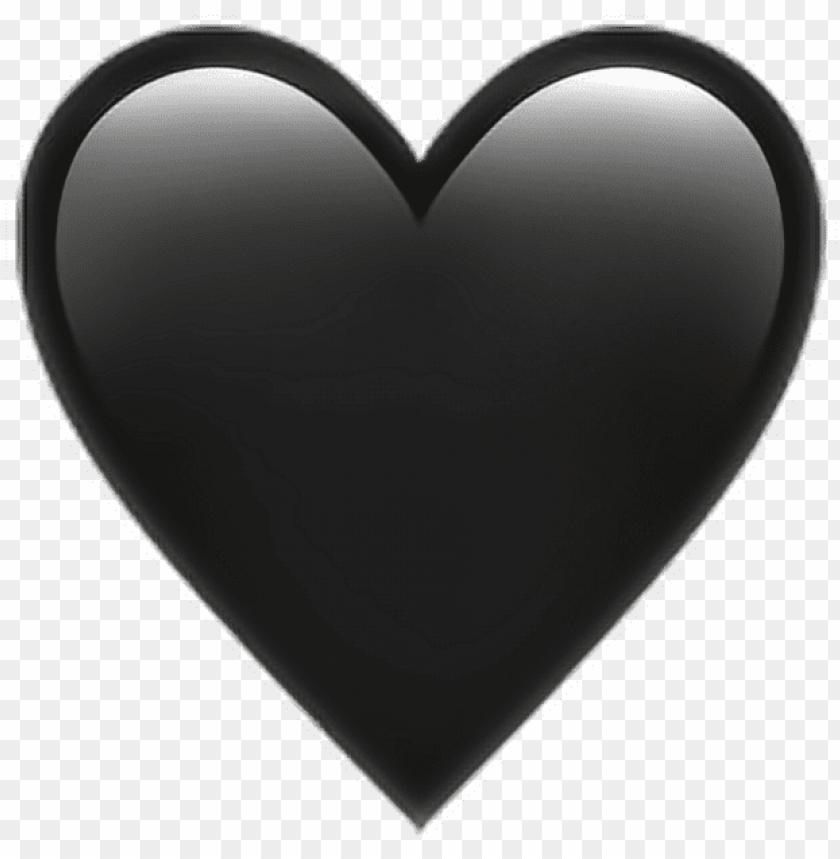 free PNG •black heart emoji ???? heart black emoji emoticon iphone PNG image with transparent background PNG images transparent