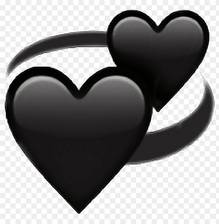 free PNG black love heart followback followme png emoji iphone PNG image with transparent background PNG images transparent