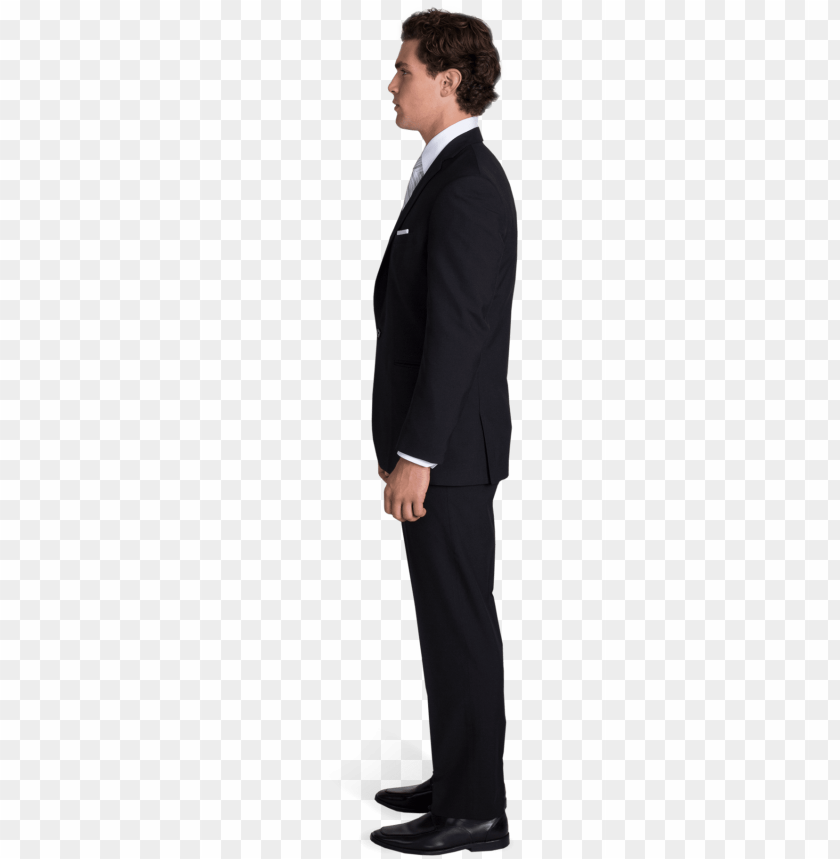 free PNG black man in suit png download - black suit side view PNG image with transparent background PNG images transparent