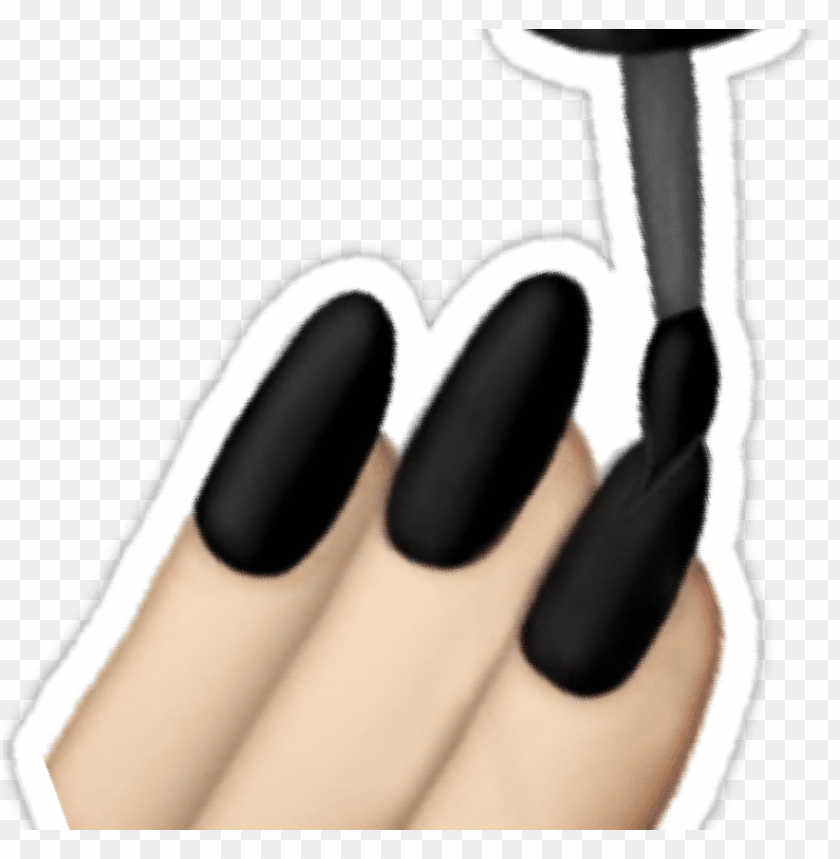 free PNG black nails emoji stickers by lazyville - nail polish PNG image with transparent background PNG images transparent