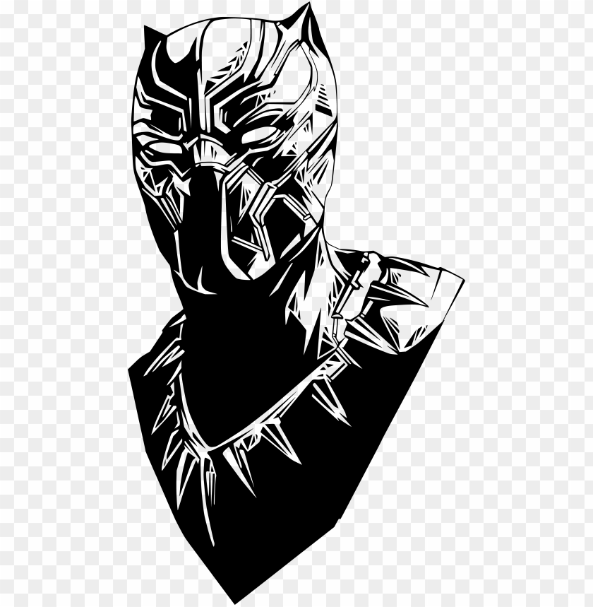 Black Panther Black Panther Marvel Vector Png Image With