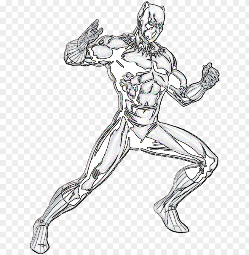 free PNG black panther drawing at getdrawings - black panther line art PNG image with transparent background PNG images transparent