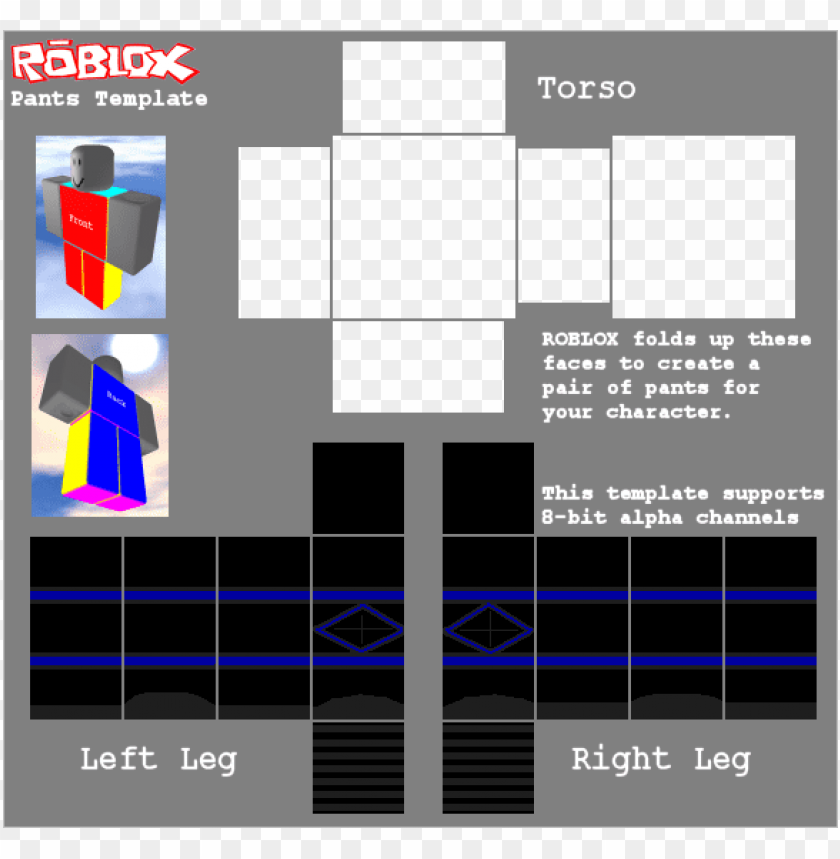 Black Pants Roblox Template Png Image With Transparent Background