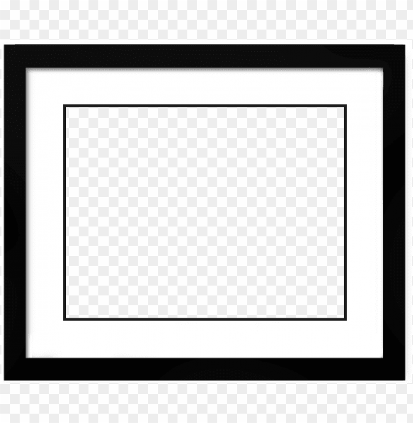 free PNG black picture frame with mat png - horizontal black picture frame PNG image with transparent background PNG images transparent