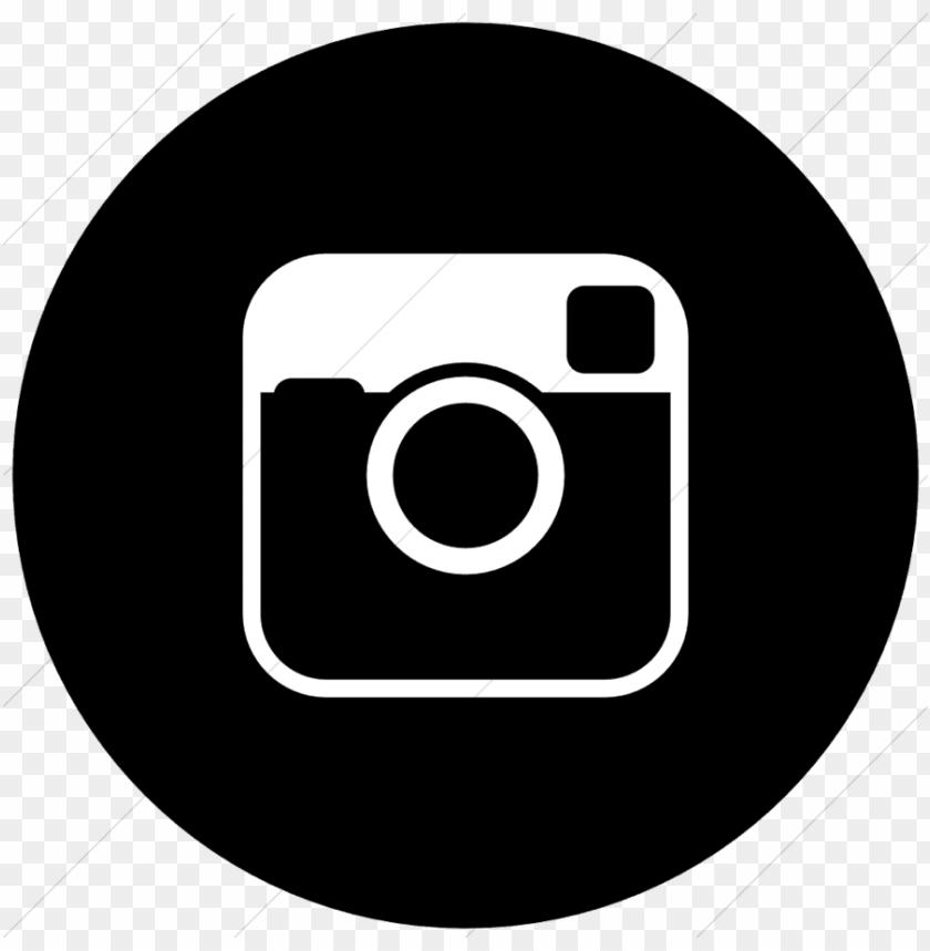 free PNG black round instagram logo PNG image with transparent background PNG images transparent