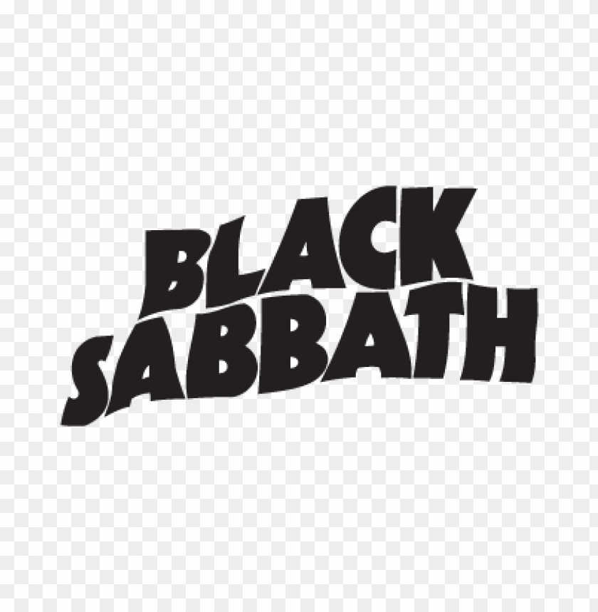 Black Sabbath Music Logo Vector Download Free Toppng
