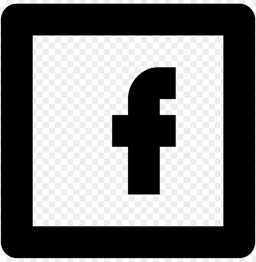 Black And White Transparent Background Facebook Logo Png