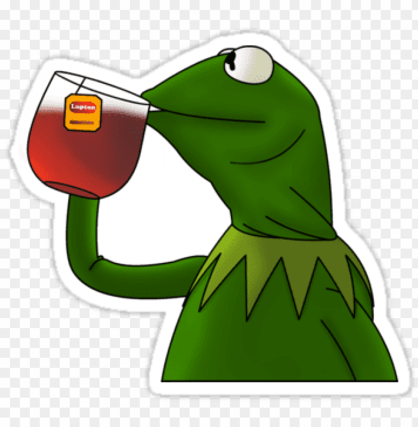 free PNG black tea - kermit sipping tea drawi PNG image with transparent background PNG images transparent