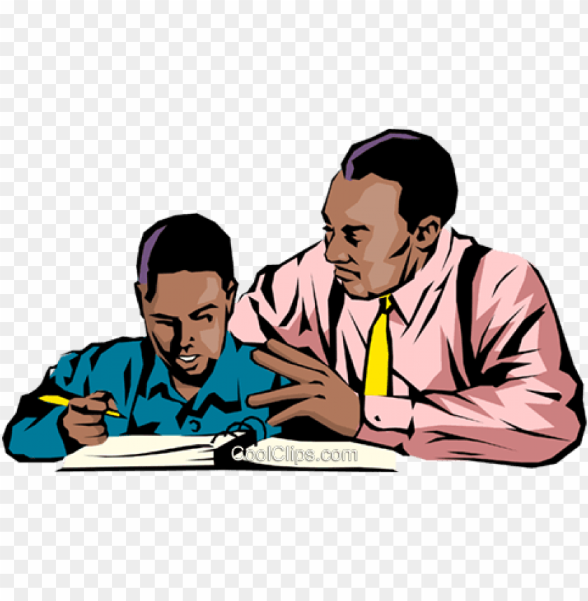 free PNG black teacher & student royalty free vector clip art - teacher and student clipart PNG image with transparent background PNG images transparent