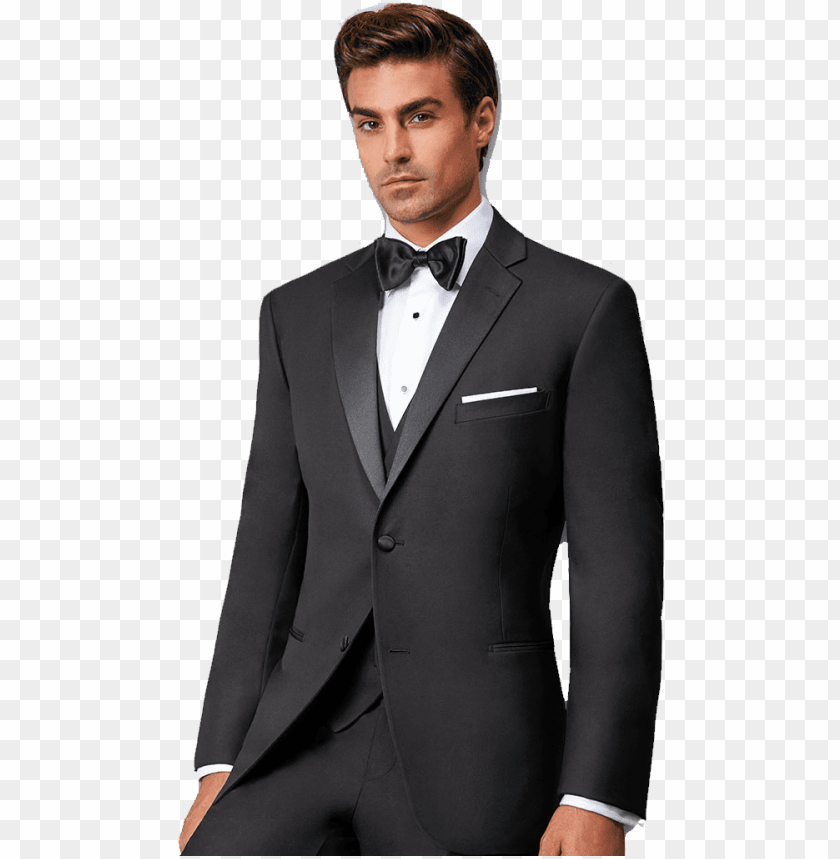Black Tuxedo Free Png Tuxedo Style Suit Png Image With